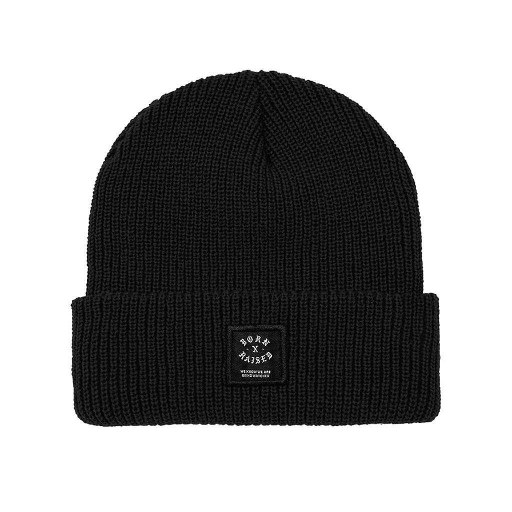 LABEL BEANIE: BLACK