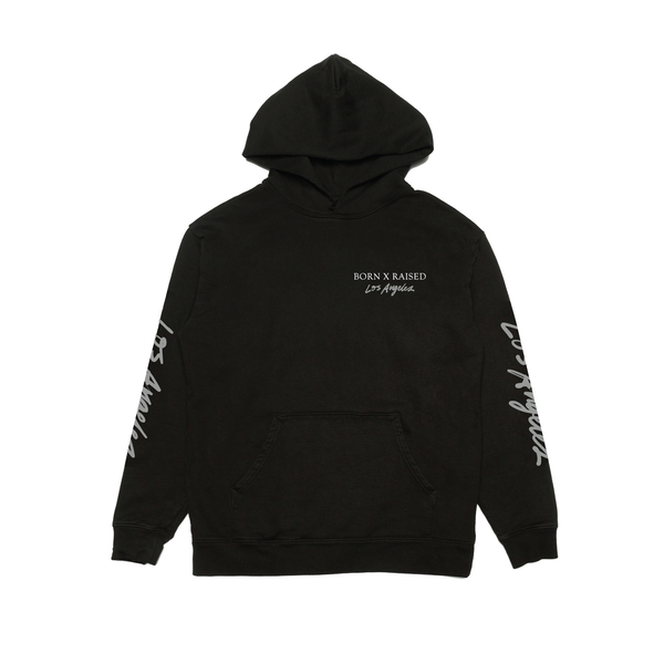 BORN X RAISED LOS ANGELES HOODY: BLACK