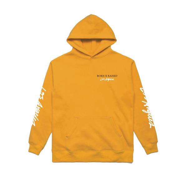BORN X RAISED LOS ANGELES HOODY: YELLOW