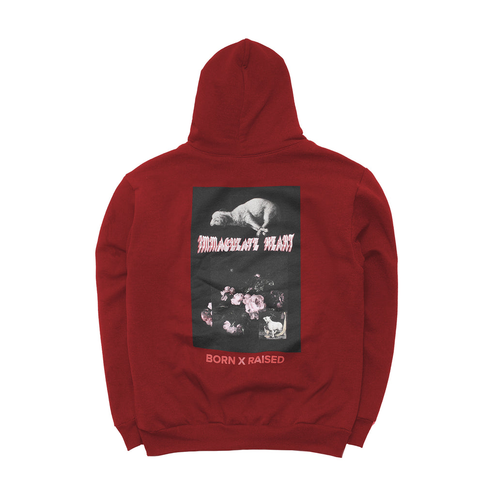 LAMB OF GOD HOODY: BURGUNDY