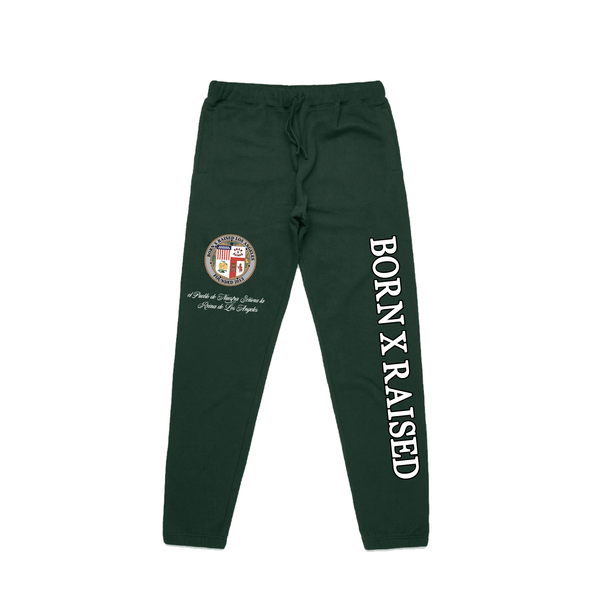 LA REINA DE LOS ANGELES SWEATPANTS: GREEN