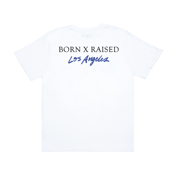 BORN X RAISED LOS ANGELES TEE: WHITE