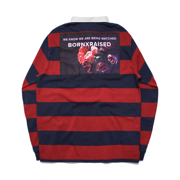 RUGBY SHIRT: NAVY/BURGUNDY
