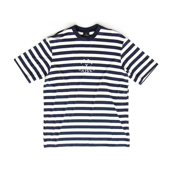STRIPED T-SHIRT: NAVY/WHITE