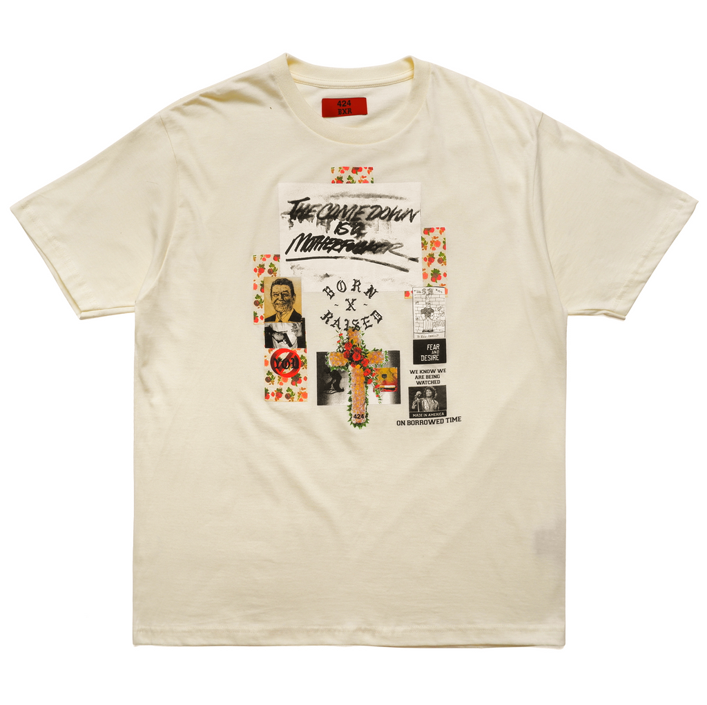 FIFTY POUR T-SHIRT: CREAM