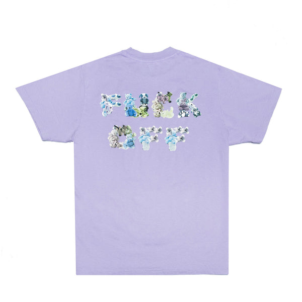 FUCK OFF BEARS TEE: LILAC