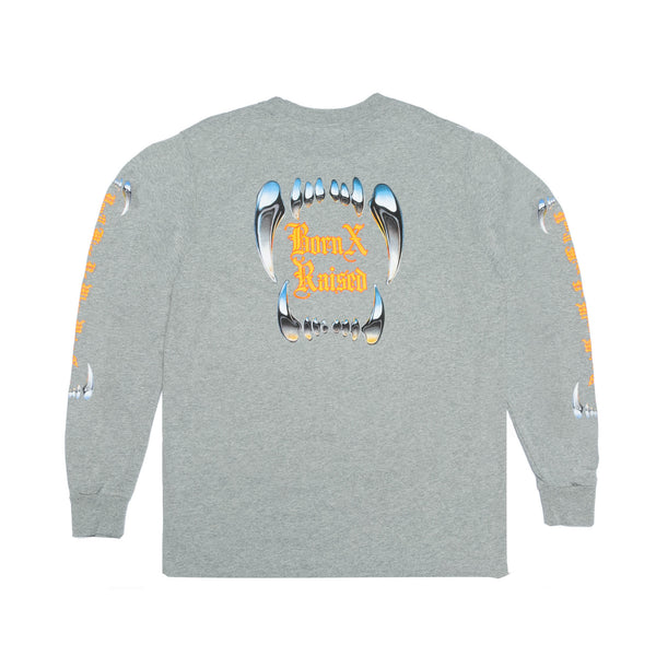 FANGORIA LONGSLEEVE TEE: HEATHER GREY