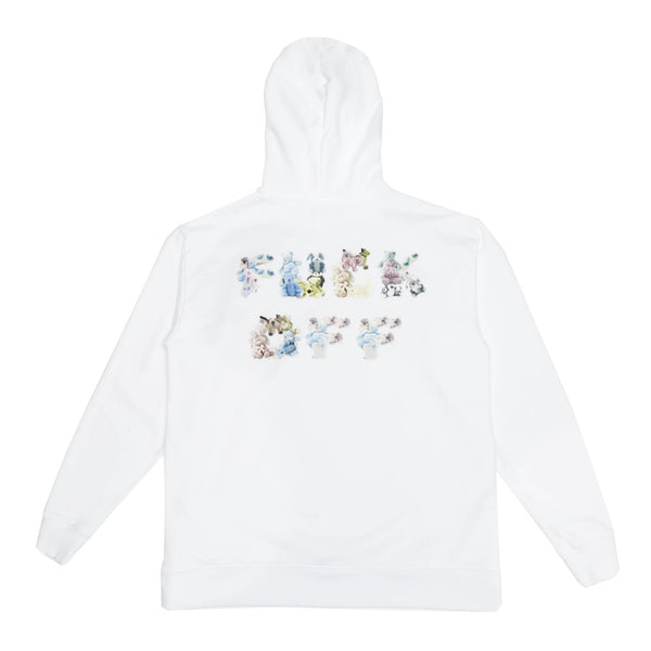 FUCK OFF BEARS HOODY: WHITE
