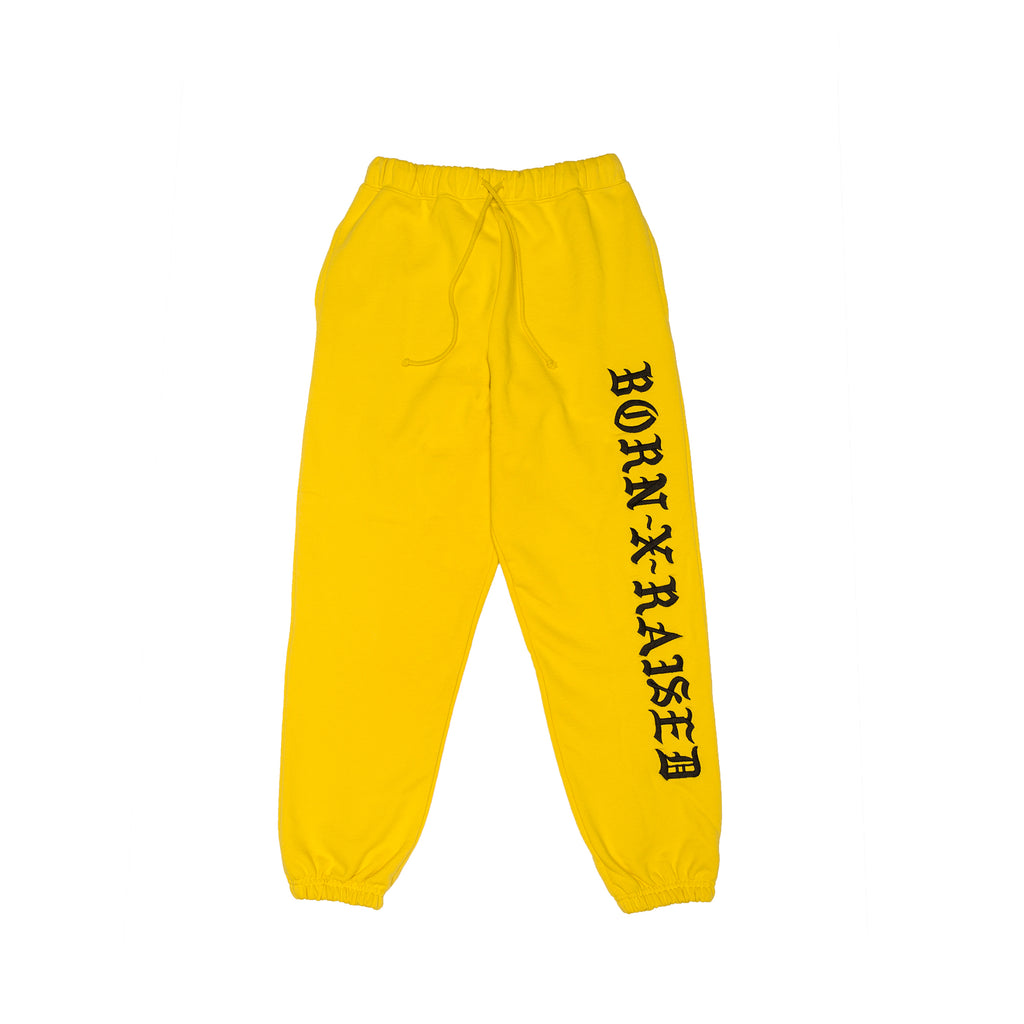 BXR EMBROIDERED SWEATS: YELLOW