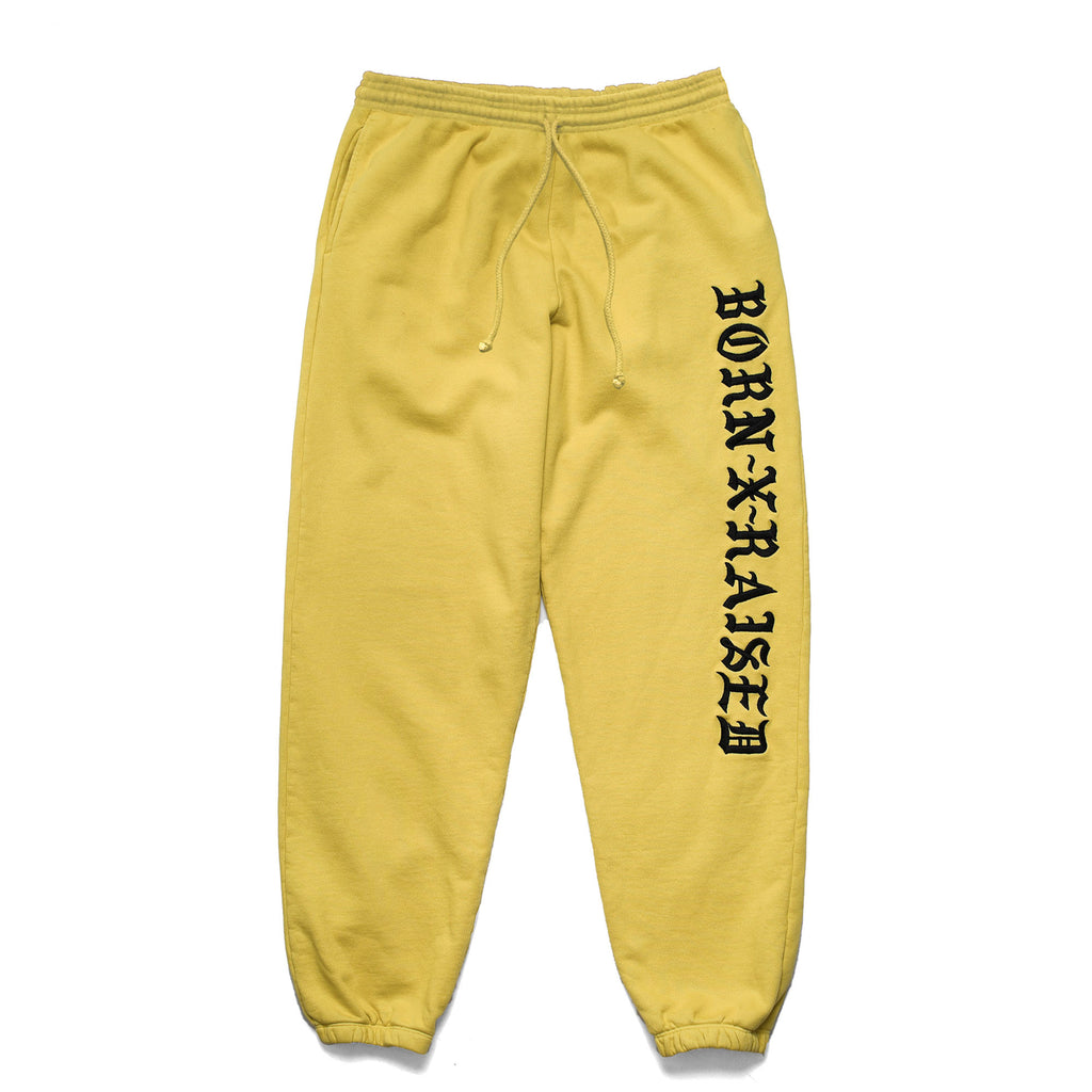 BXR EMBROIDERED SWEATS: MUSTARD YELLOW