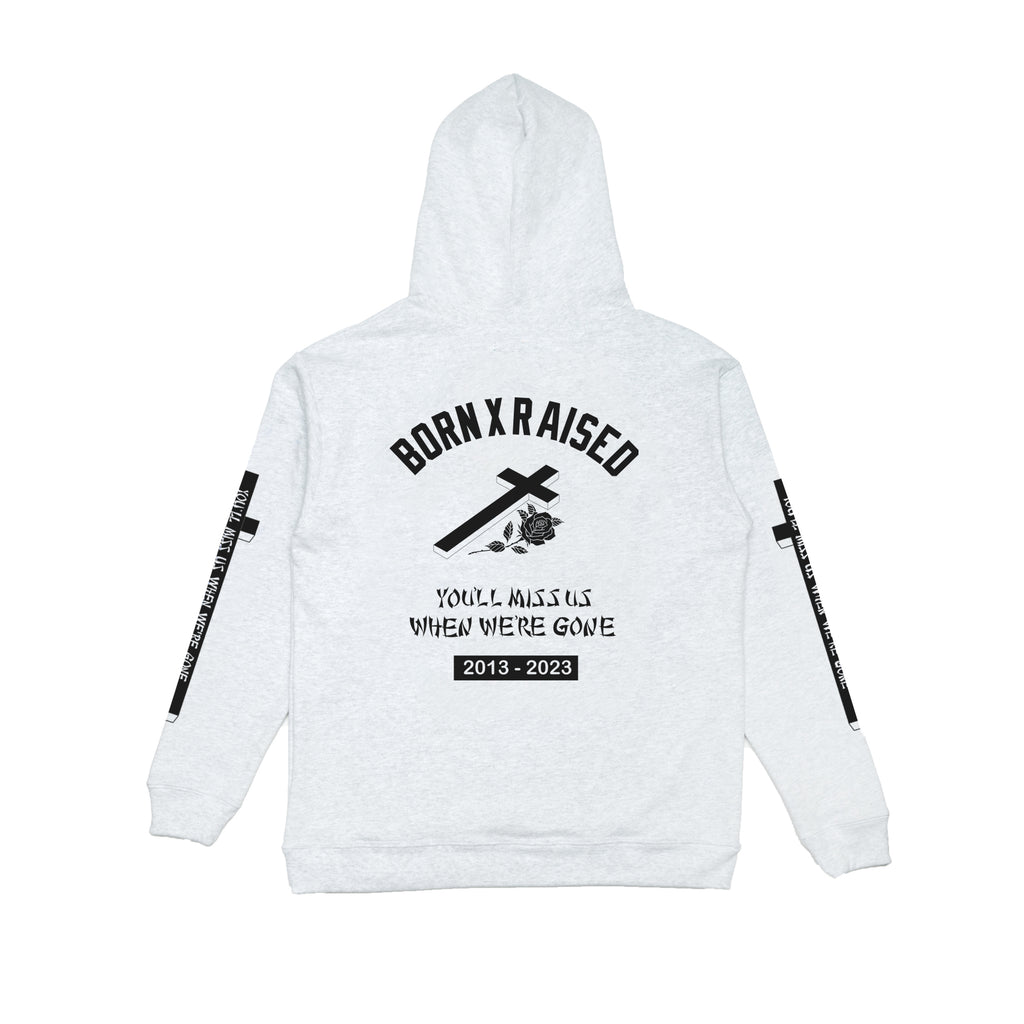 YOU'LL MISS US HOODY: HEATHER GREY