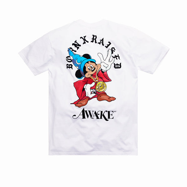 BORN X RAISED + AWAKE NY FANTASIA TEE: WHITE