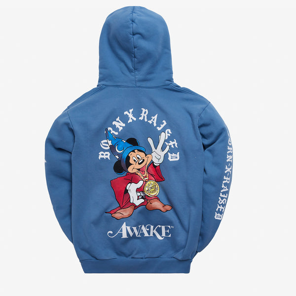 BORN X RAISED + AWAKE NY FANTASIA HOODY: SLATE BLUE