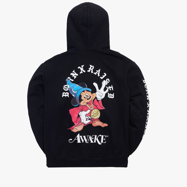 BORN X RAISED + AWAKE NY FANTASIA HOODY: BLACK