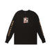 BARBED WIRE LONGSLEEVE TEE: BLACK