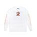 BARBED WIRE LONGSLEEVE TEE: WHITE
