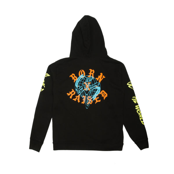 FUCK THE WORLD HOODY: BLACK
