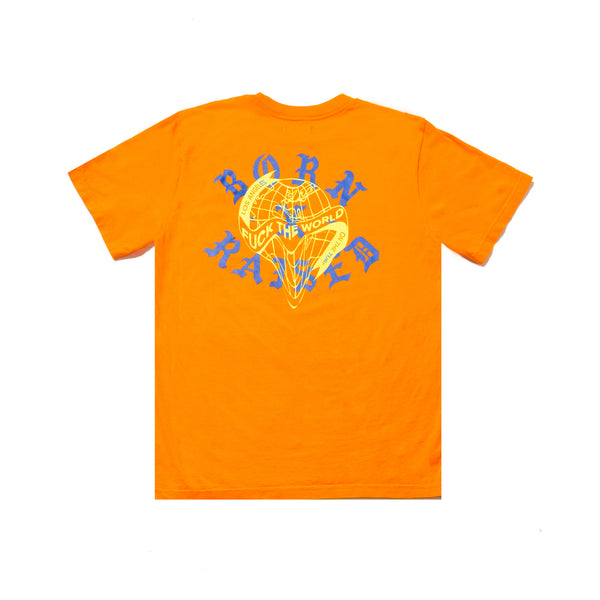 FUCK THE WORLD TSHIRT: ORANGE