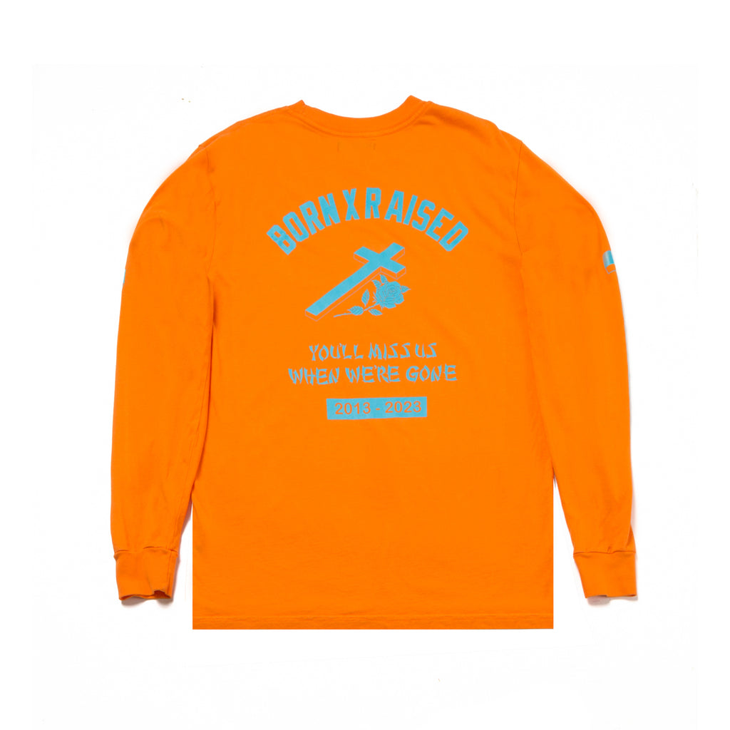 YOU'LL MISS US LONGSLEEVE TSHIRT: ORANGE