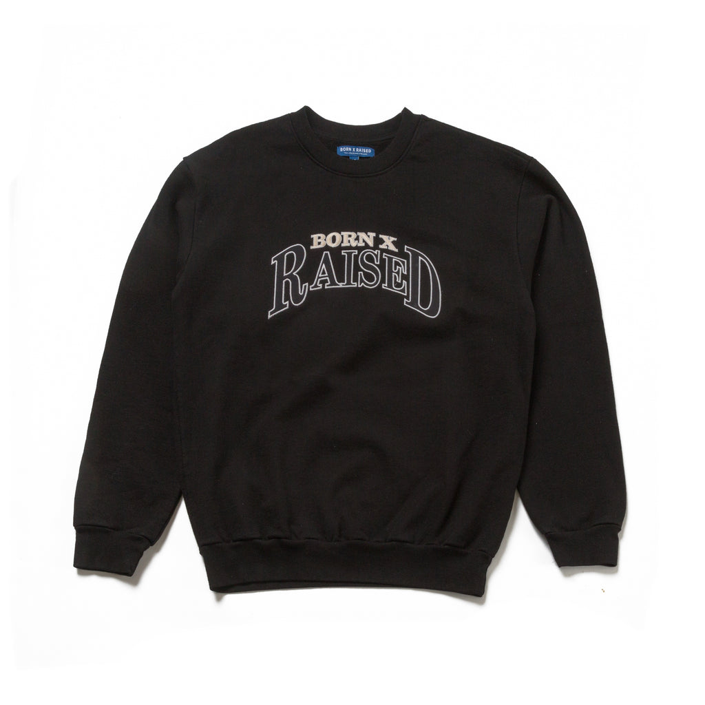 MAJOR LEAGUE CREW NECK: BLACK