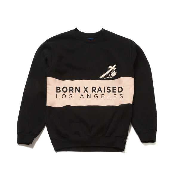 BORN X RAISED COLOR BLOCK CREWNECK SWEATSHIRT