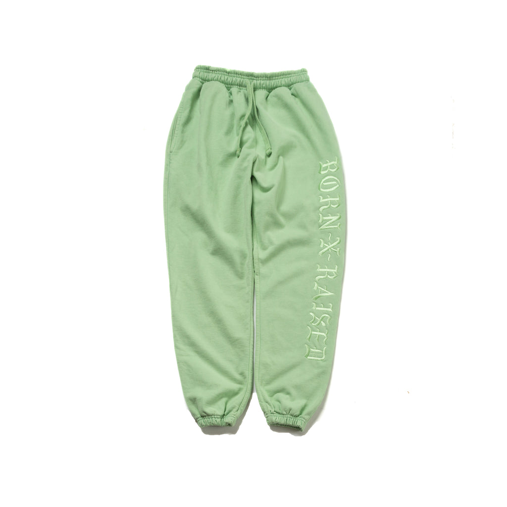 BXR TONAL SWEATS: CHARTREUSE GREEN