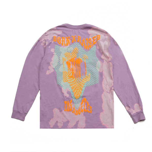 WARPED BOARDWALK LONG SLEEVE: LAVENDER MIST TIE DYE
