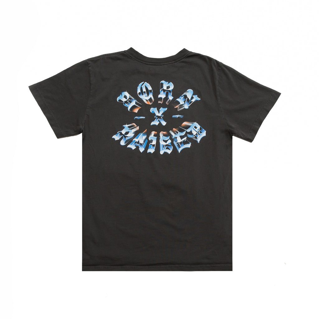 CHROME ROCKER T-SHIRT: BLACK