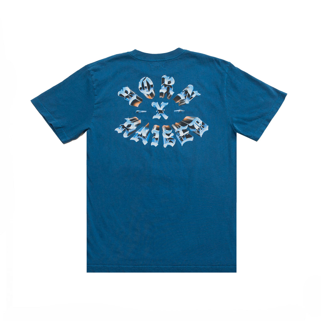 CHROME ROCKER T-SHIRT: CLASSIC BLUE