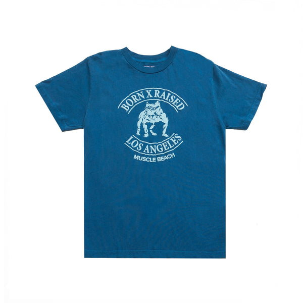 MUSCLE BEACH T-SHIRT: CLASSIC BLUE