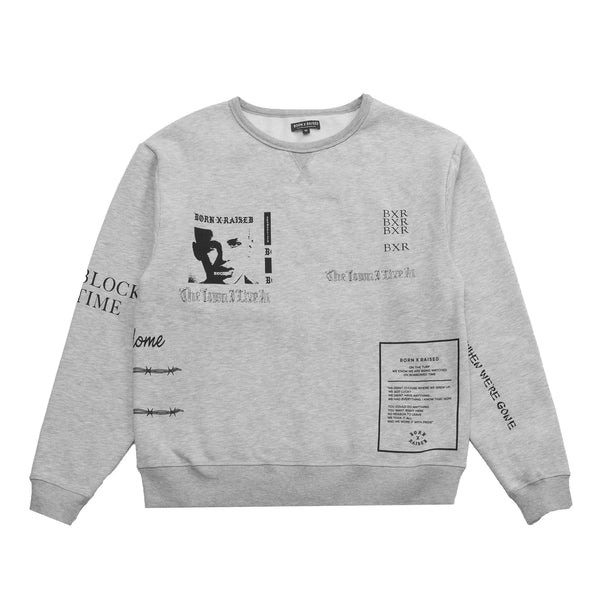 EUGENE CREWNECK SWEATSHIRT: HEATHER GREY