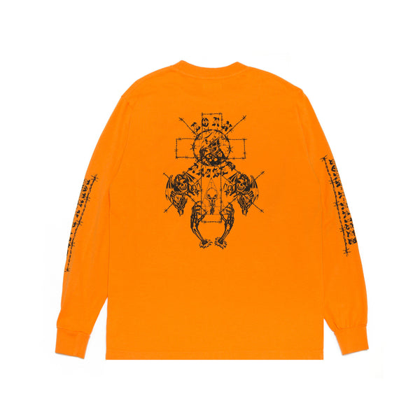 METHANY LONGSLEEVE TEE: ORANGE