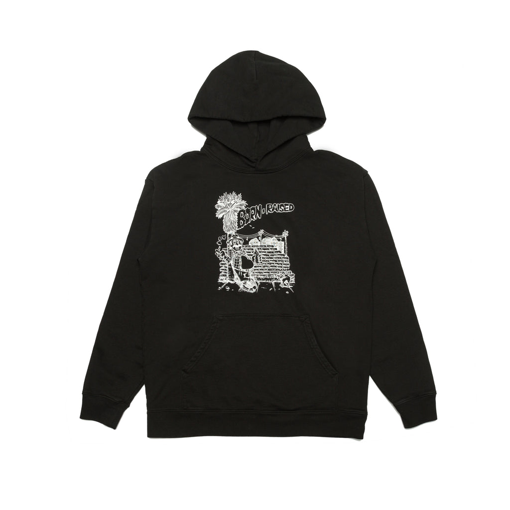 JESSE CALIFORNIA SMOKER HOODY: BLACK