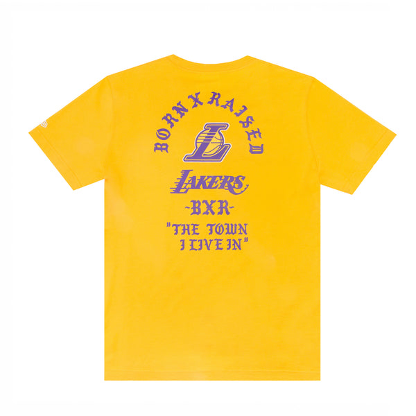 BORN X RAISED + LAKERS: THE TOWN TEE: YELLOW