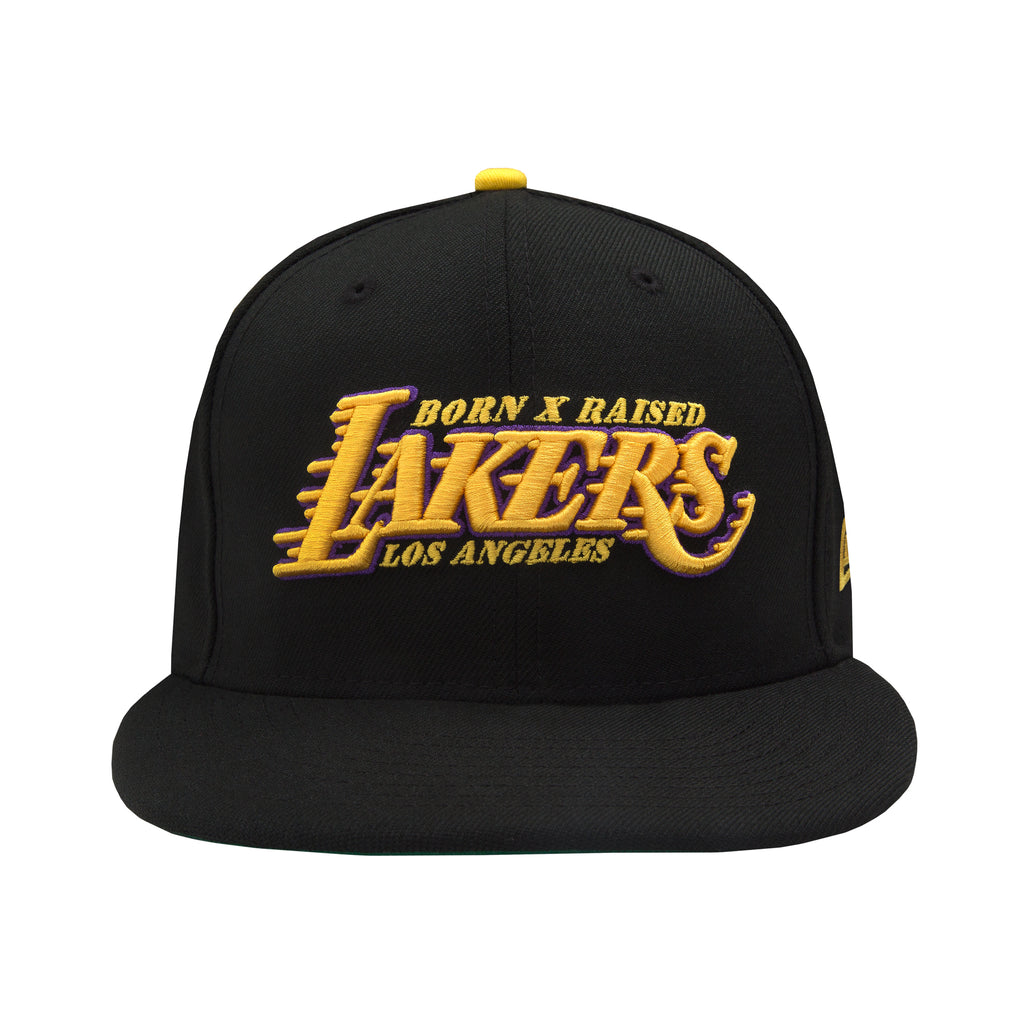 "BORN X RAISED + LAKERS ""SHOWTIME"" FITTED HAT"