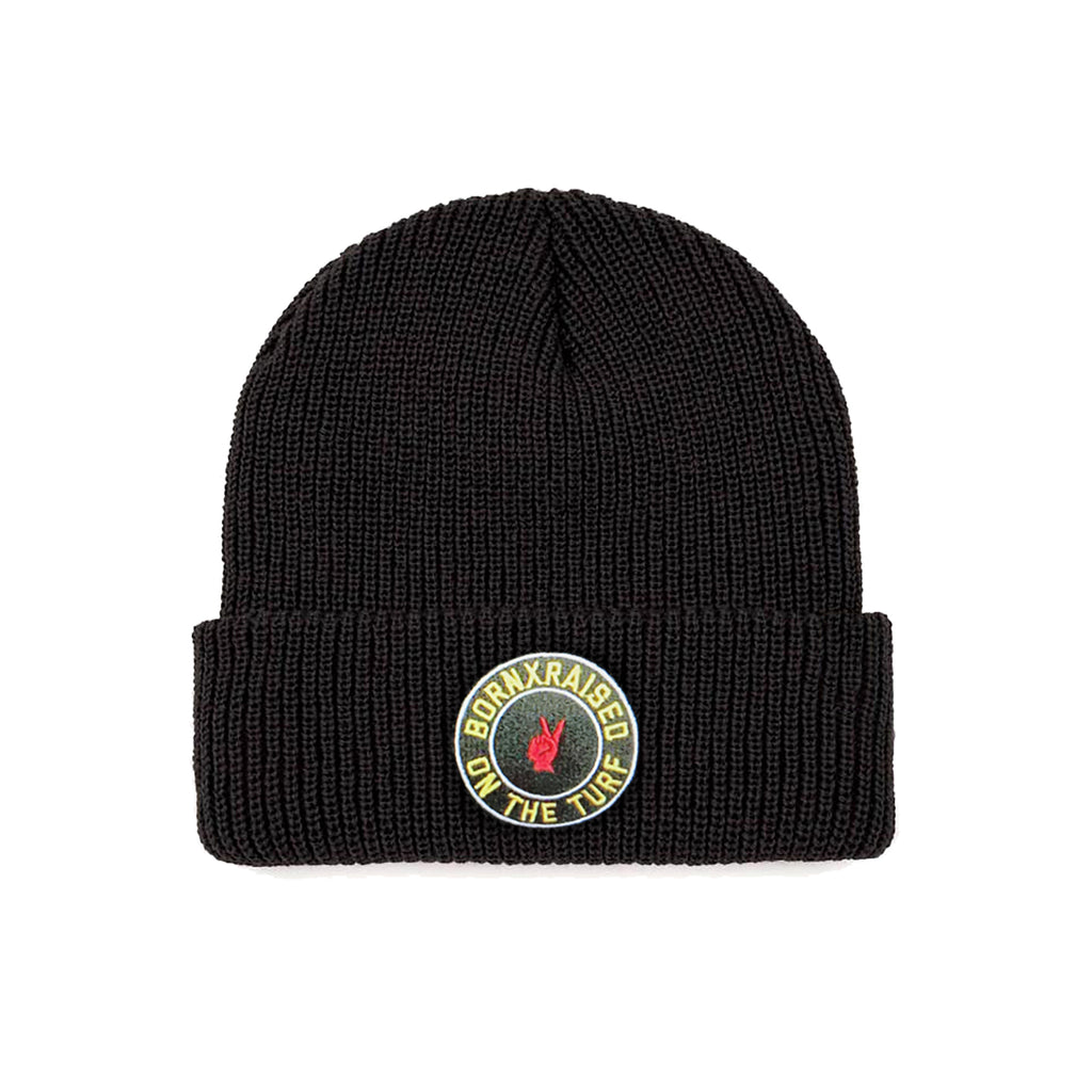ON THE TURF BEANIE: BLACK