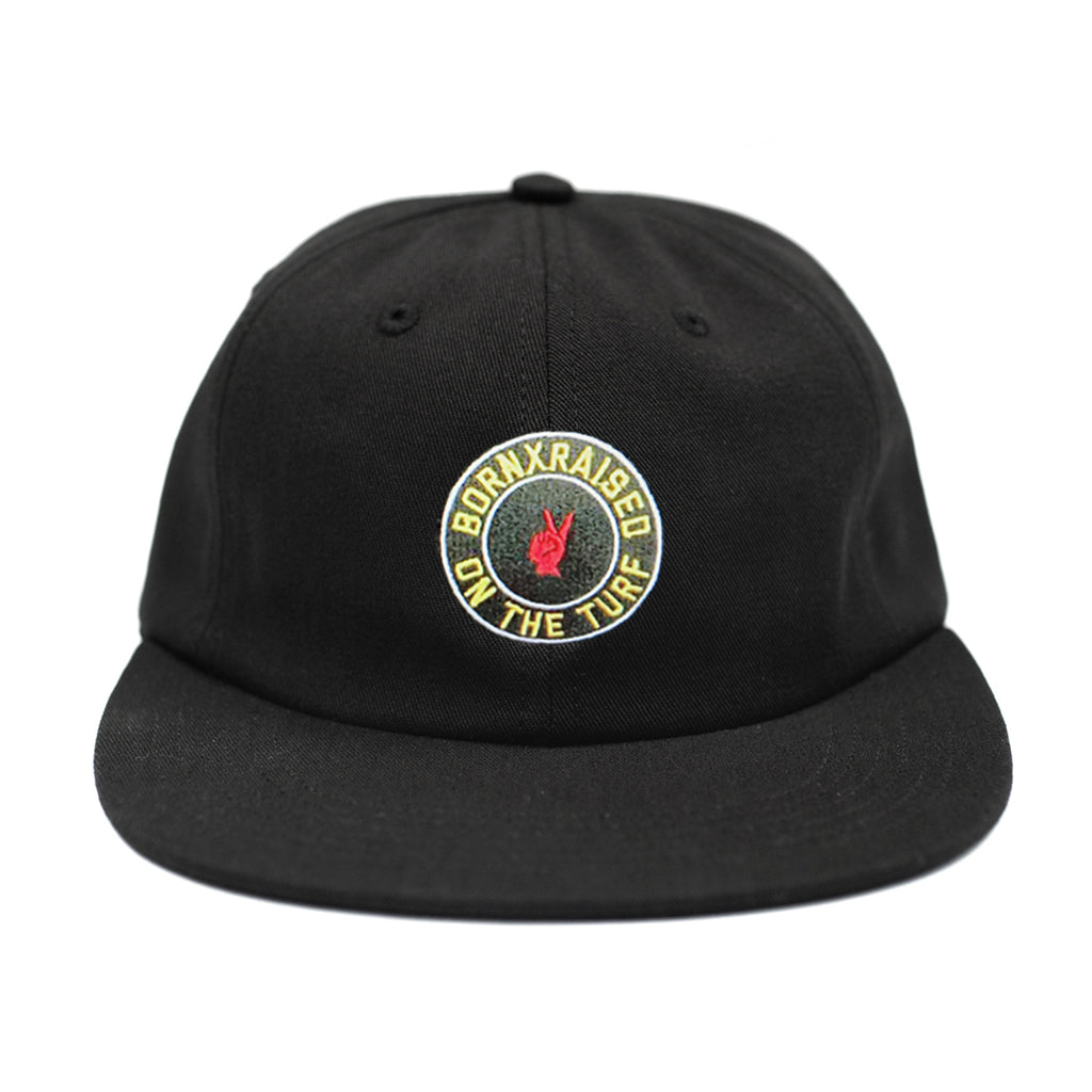 ON THE TURF STRAPBACK: BLACK