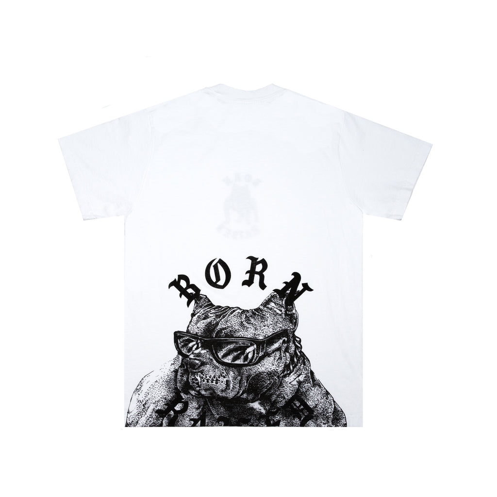 BOARDWALK SHARK TEE: WHITE