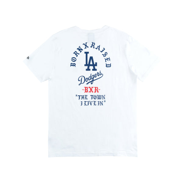 BORN X RAISED + DODGERS THE TOWN TEE: WHITE