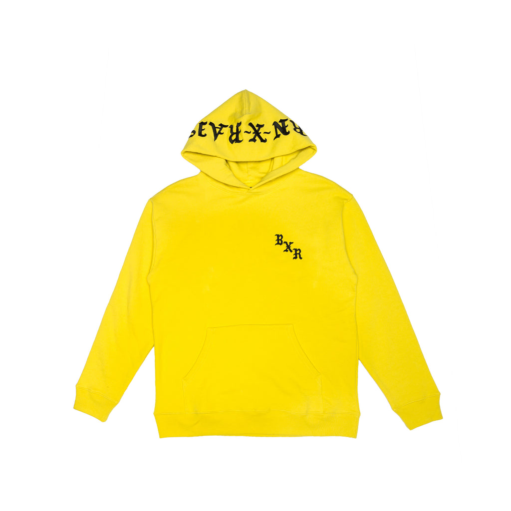 BXR EMBROIDERED HOODY: YELLOW