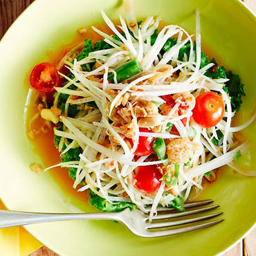 Easy Thai Green Papaya Salad with Amaara Herbs Raw Honey!