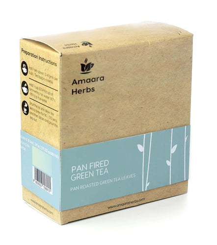 Organic Pan Fired Green Tea, 100g