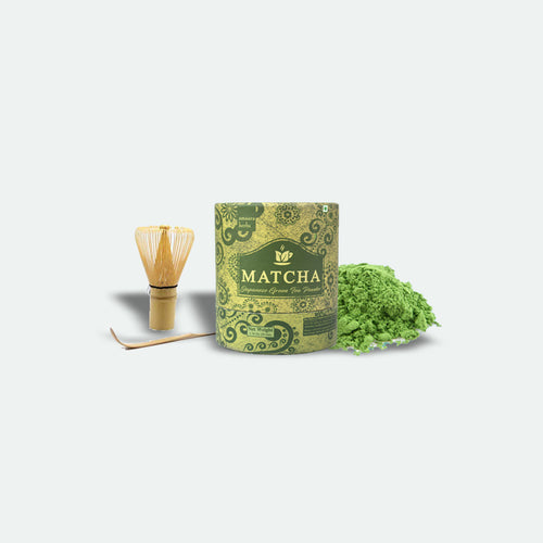 Matcha Green Tea, 50g and a Bamboo Whisk Set