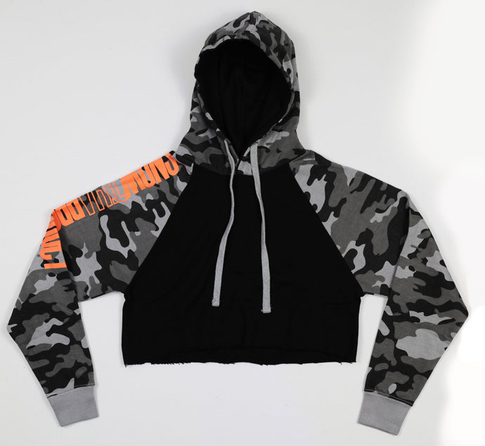 Snow Tha Product Camo Cropped Hoodie - EVERYDAYDAYS