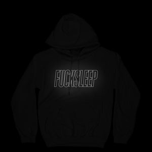 Fuck Sleep Hoodie (Black/Reflective) - EVERYDAYDAYS