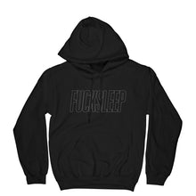 Load image into Gallery viewer, Fuck Sleep Hoodie (Black/Reflective) - EVERYDAYDAYS