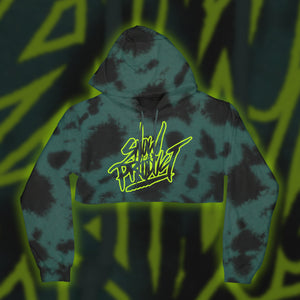 Snow Tha Product Neon Vibez Crop (Teal Cloud)