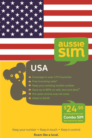 AussieSim USA travel sim card