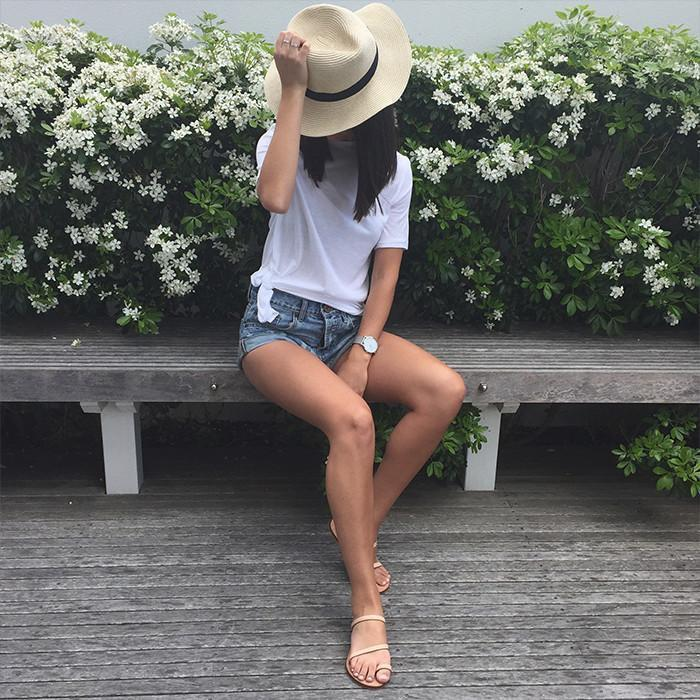 Taking your denim shorts from Spring to Summer by Anna Boshier