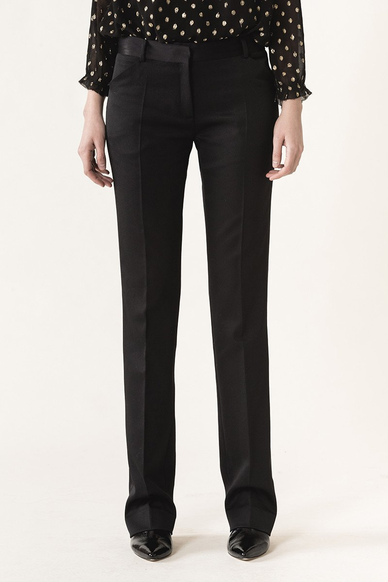 Vanessa Bruno Womens Pants NOIR / 34 Vanessa Bruno | Joevin Dress Trousers - Noir